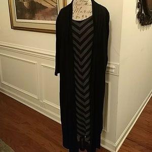 FOREVER Woman Dress/Duster Black/Gray 3X